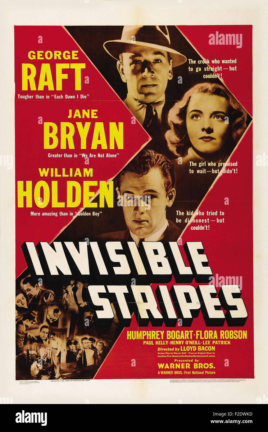 Invisible Stripes_01 - Movie Poster - Stock Image