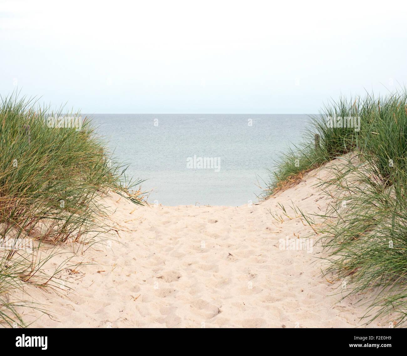 Strandübergang an der Ostsee - Stock Image