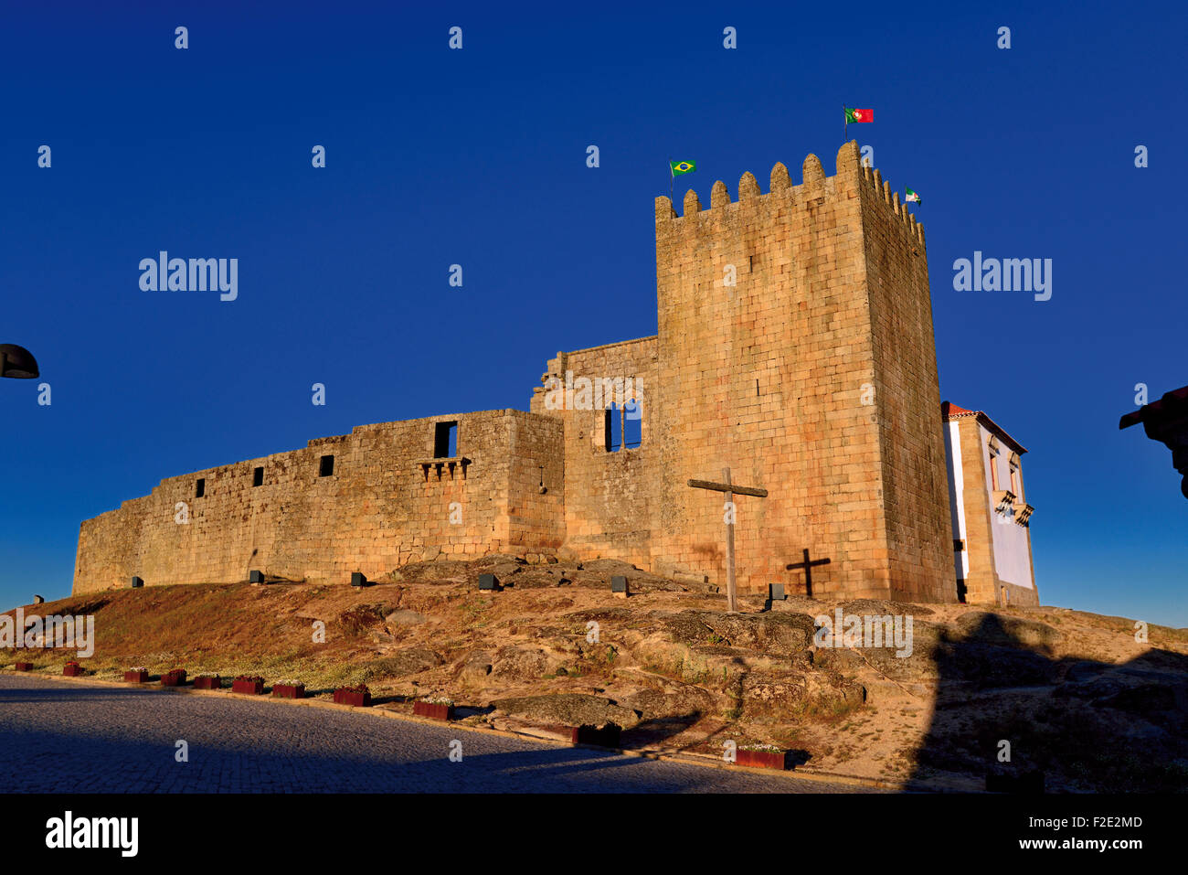 Portugal, Belmonte: Medieval castle and birth place of Brazil discoverer Pedro Alvares Cabral - Stock Image