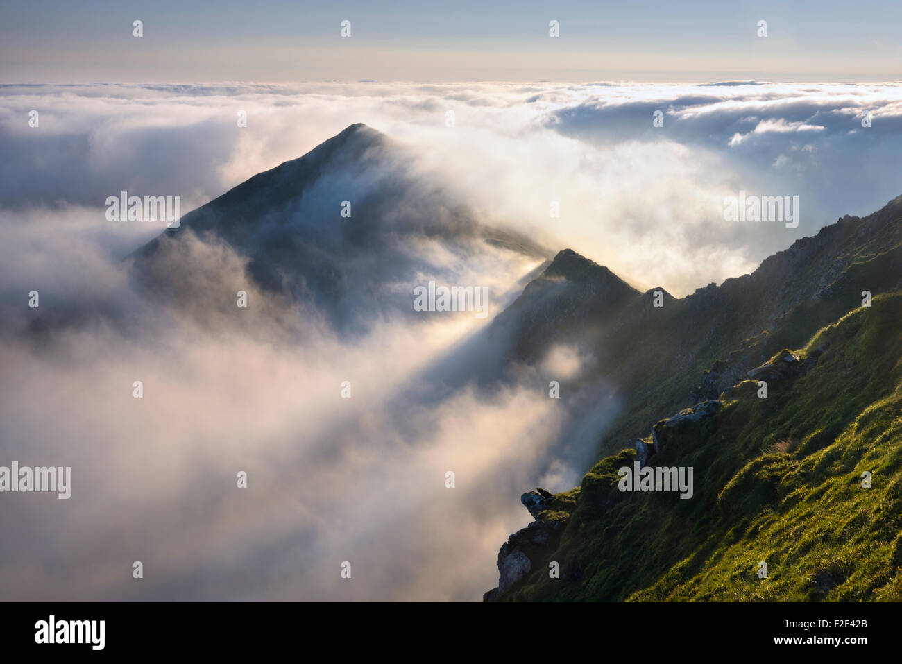Cloud Inversion over Swirral Edge. - Stock Image