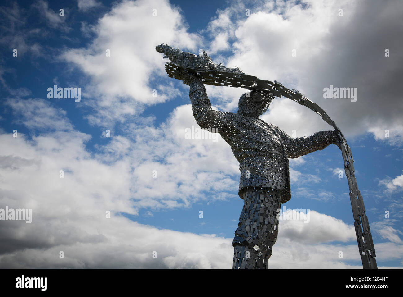Steel Man, a new sculpture by Scottish artist Andy Scott, made to commemorate those who lost their lives in the - Stock Image