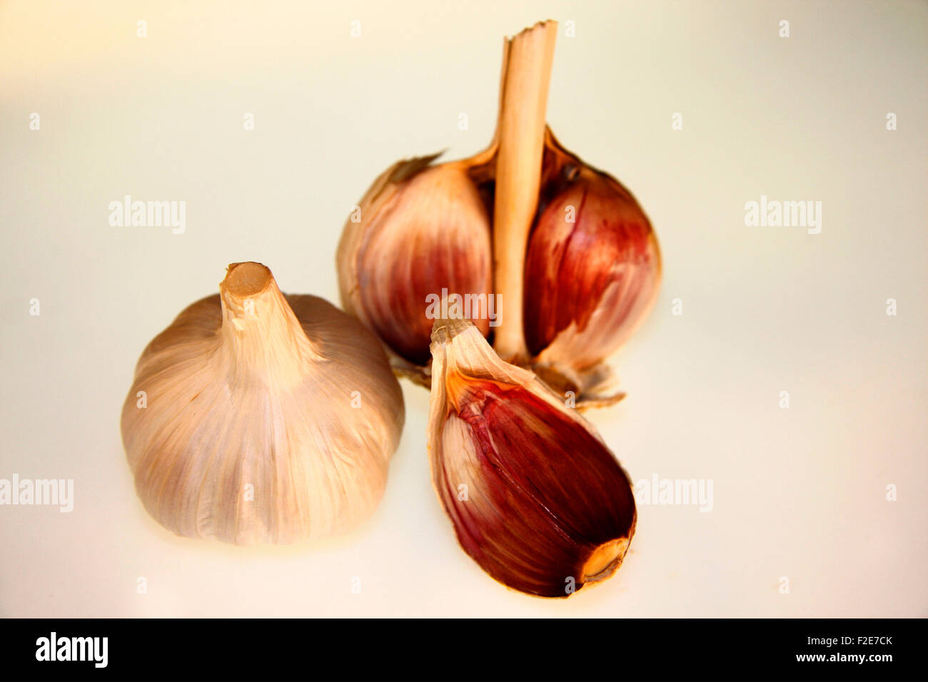 Knoblauch - Symbolbild Nahrungsmittel . Stock Photo