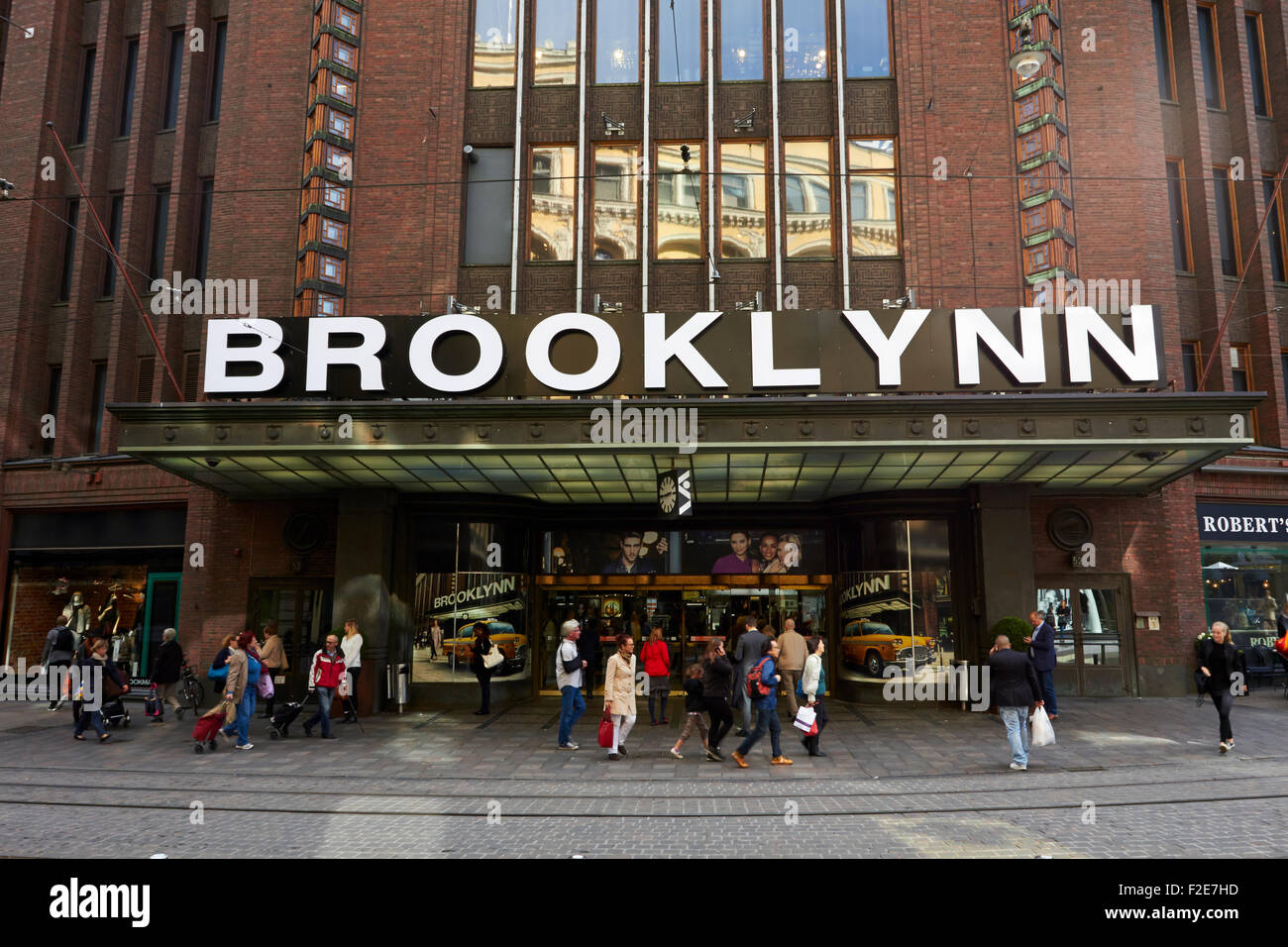 Stockmann department store with Brooklynn advertise, Helsinki Finland - Stock Image