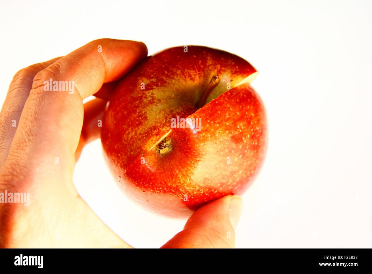 Apfel - Symbolbild Nahrungsmittel . Stock Photo