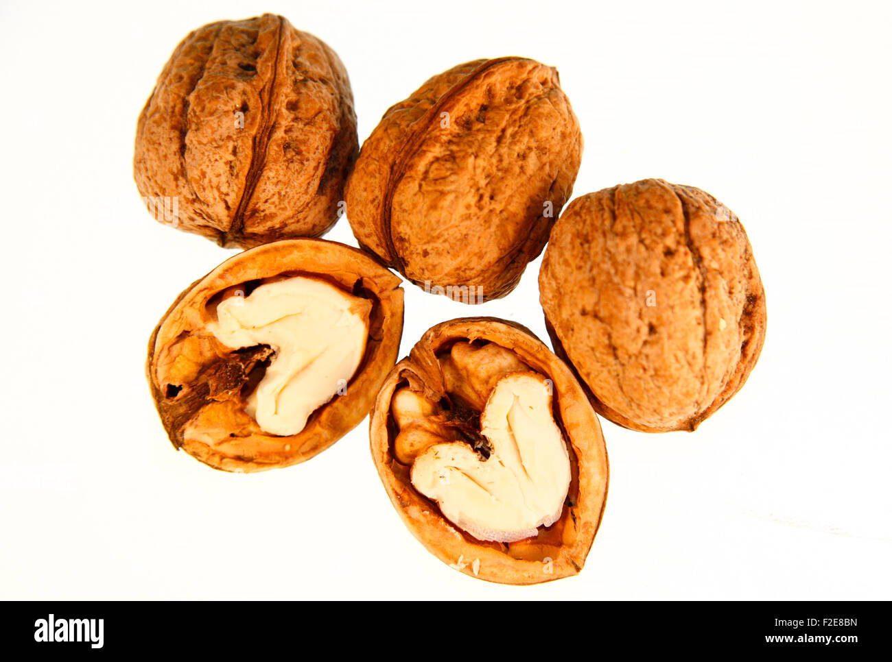 Nuesse / Walnuesse - Symbolbild Nahrungsmittel. Stock Photo