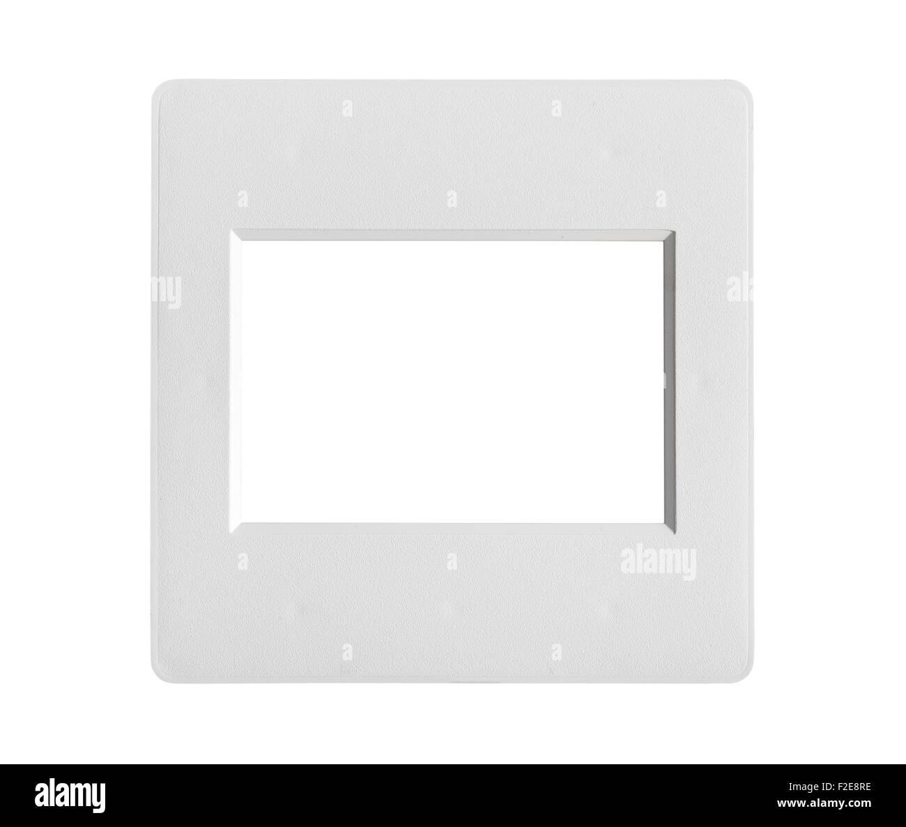 single frame slide without film isolated on white - Stock Image