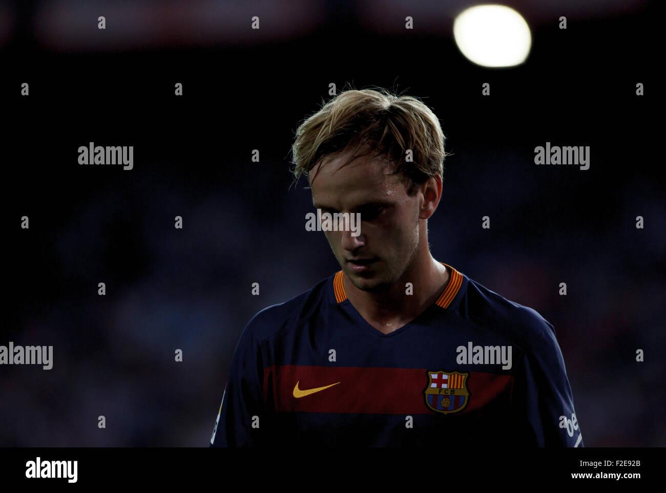 SPAIN, Madrid:FC Barcelona's Croatian midfielder Ivan Rakitic during the Spanish League 2015/16 - Stock Image