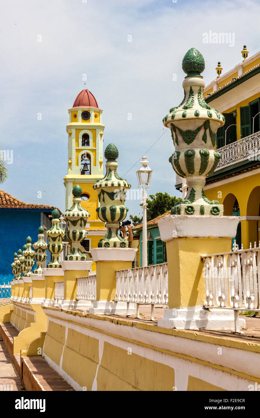 TRINIDAD, CUBA - JULY 22, 2014: A city with colonial architecture.Worldwide Patrimony of humanity since 1988. Third - Stock Image