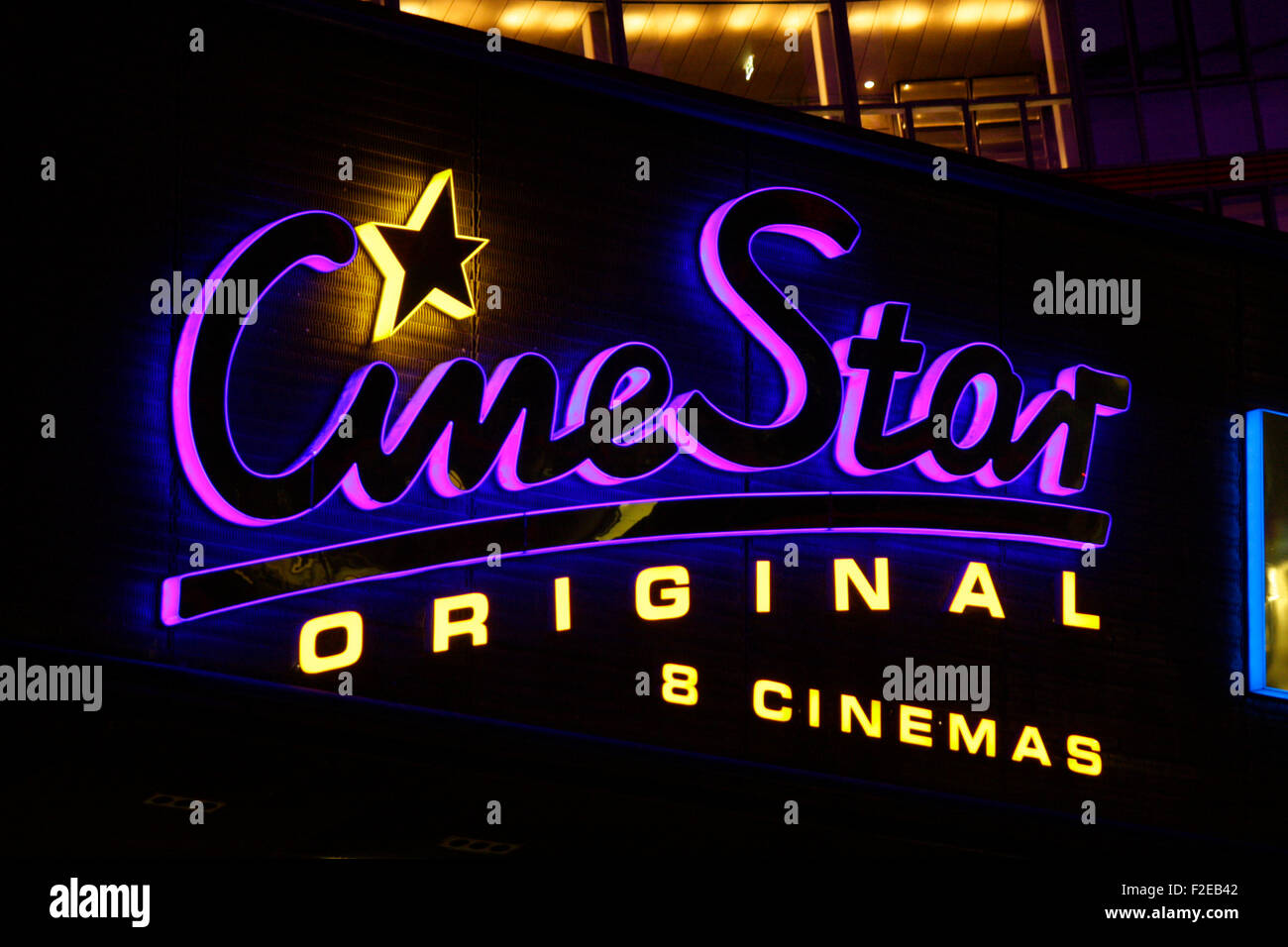 NOVEMBER 2013 - BERLIN: brands: the logo of the German cinema chain 'Cine Star', Berlin. - Stock Image