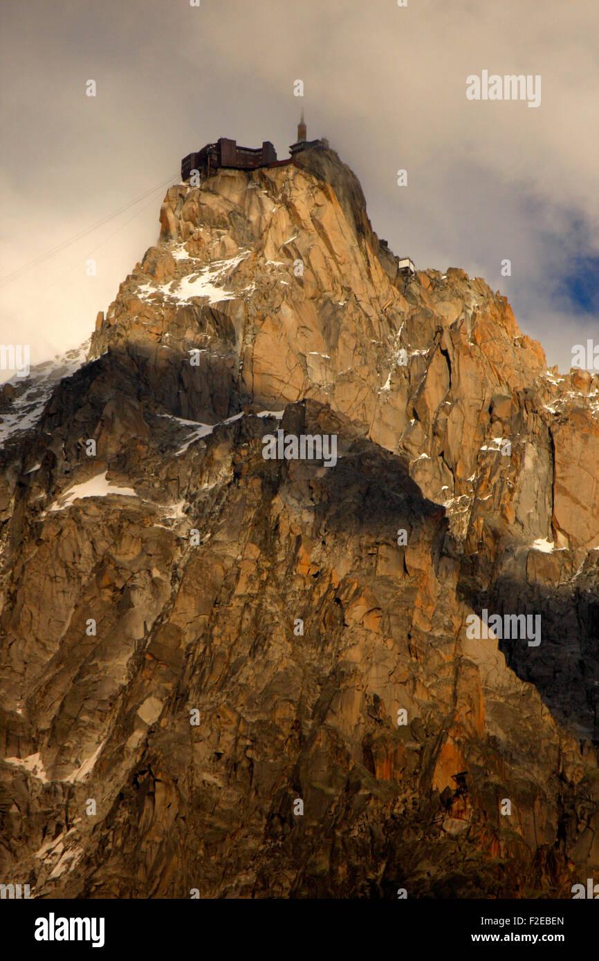 Aiguille du Midi, Mont-Blanc/ Aiguille du Midi, Mont Blanc. Stock Photo