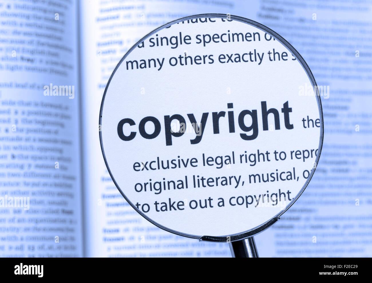 copyright dictionary definition single word stock photos & copyright