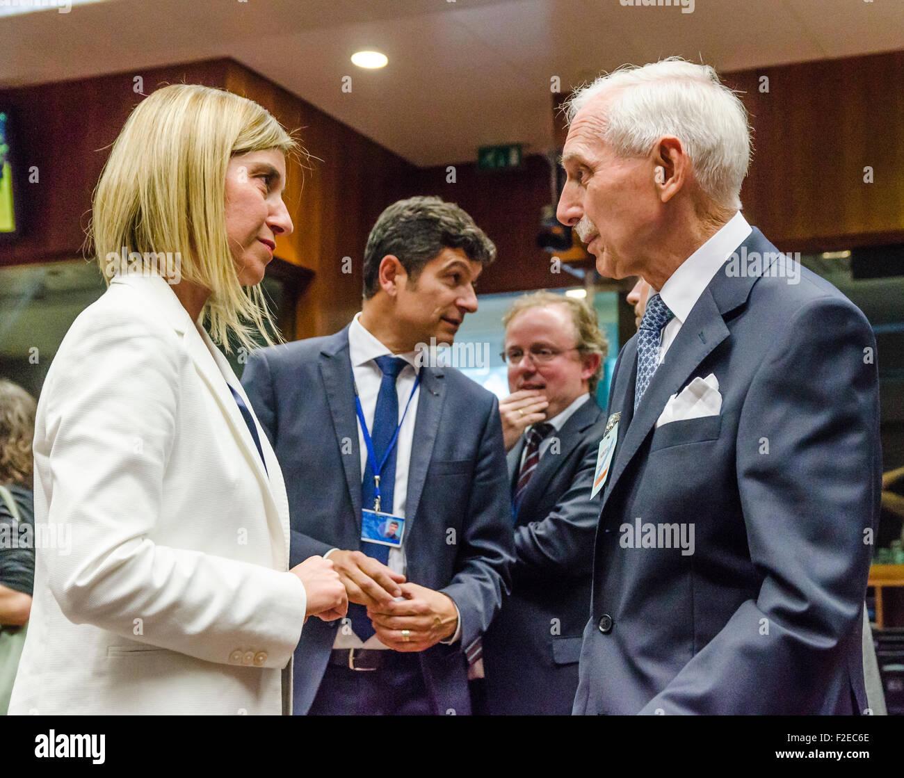 Maurits Hendriks Netherlands Prime Minister Mark Rutte L: Federica Mogherini R Stock Photos & Federica Mogherini R