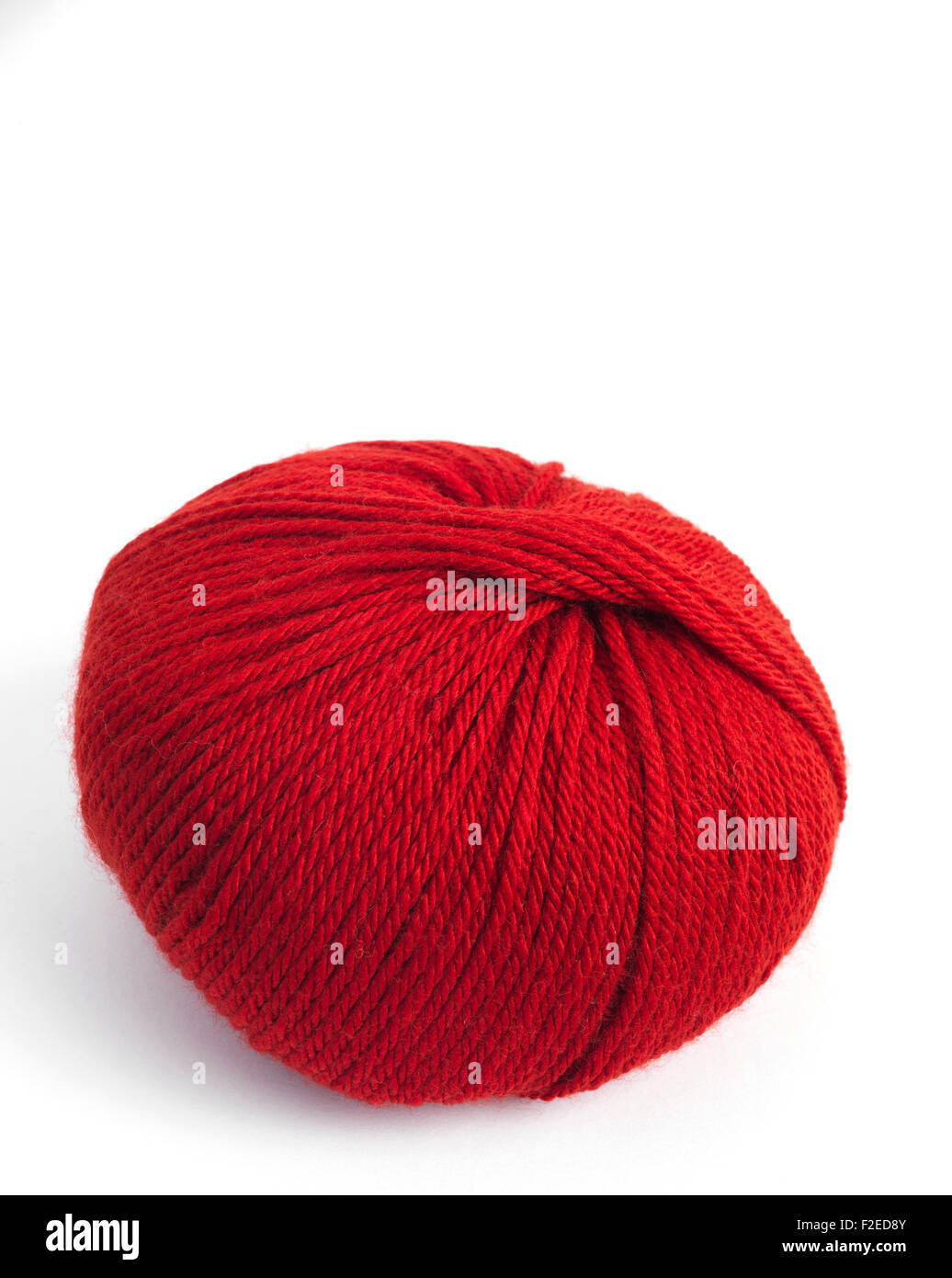 Red Wool Ball - Stock Image