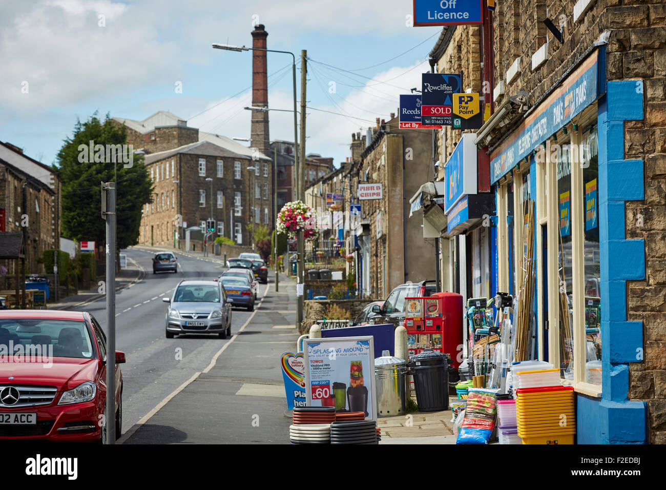 Disused wick factory in New Mills Derbyshire near Stockport home to Swizzles  Matlow sweets, the company moved during - Stock Image