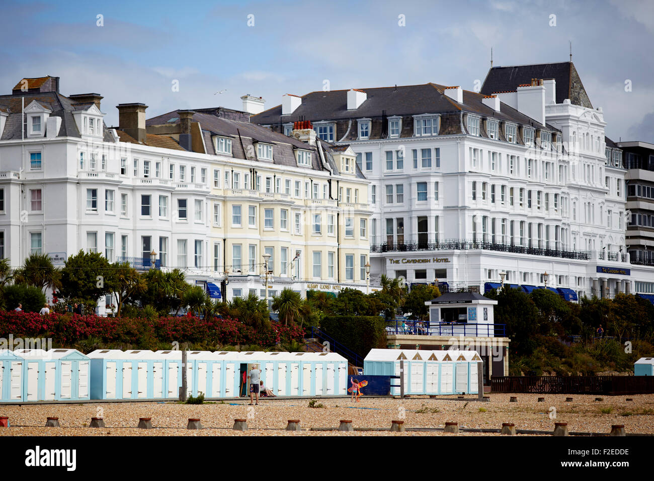Seafront hotels at  in Eastbourne, East Sussex, on the south coast of England  UK Great Britain British United Kingdom Stock Photo