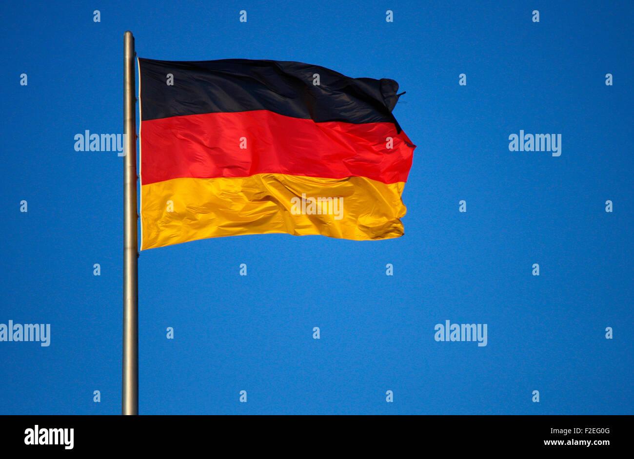 Deutschlandfahne, Berlin. - Stock Image