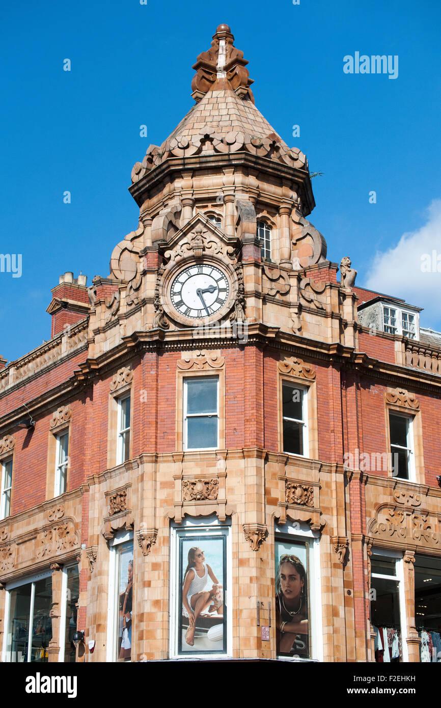Clock Tower, Briggate , Leeds, Yorkshire, England, UK - Stock Image