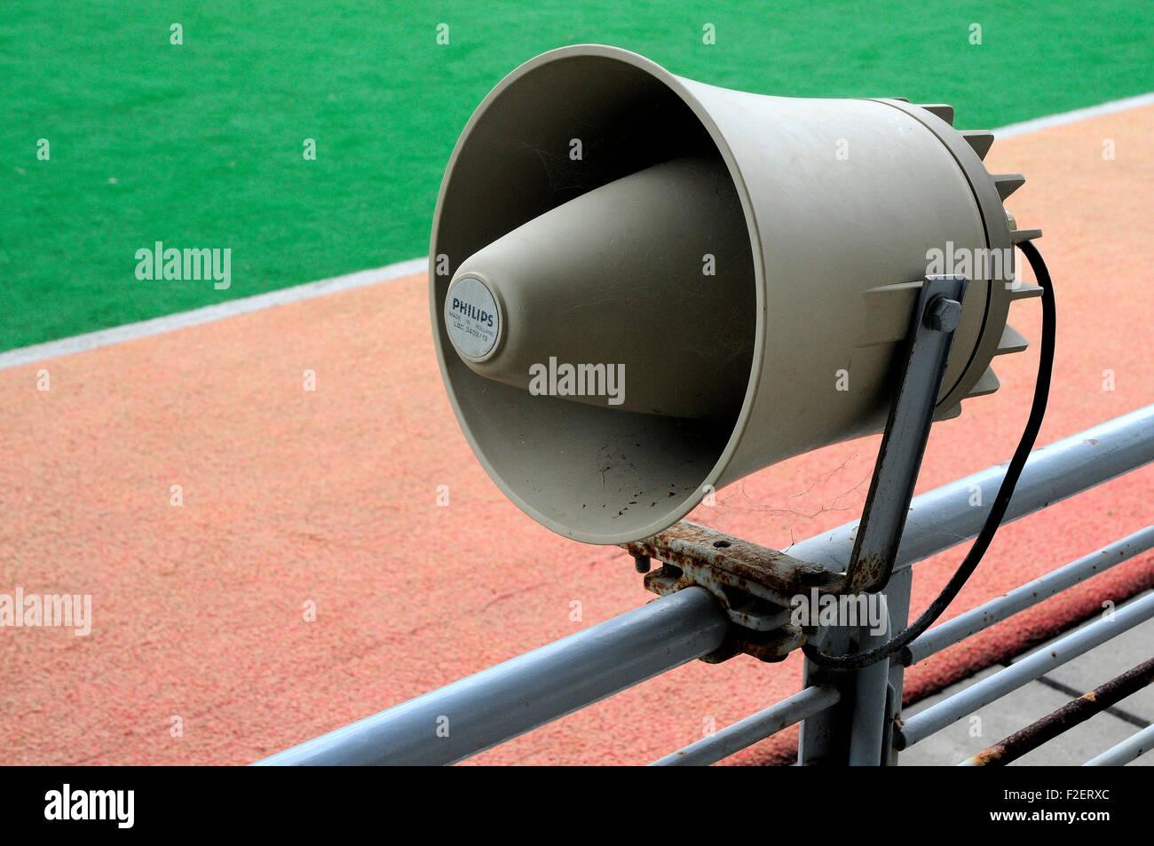 speaker, old speaker, philips - Stock Image