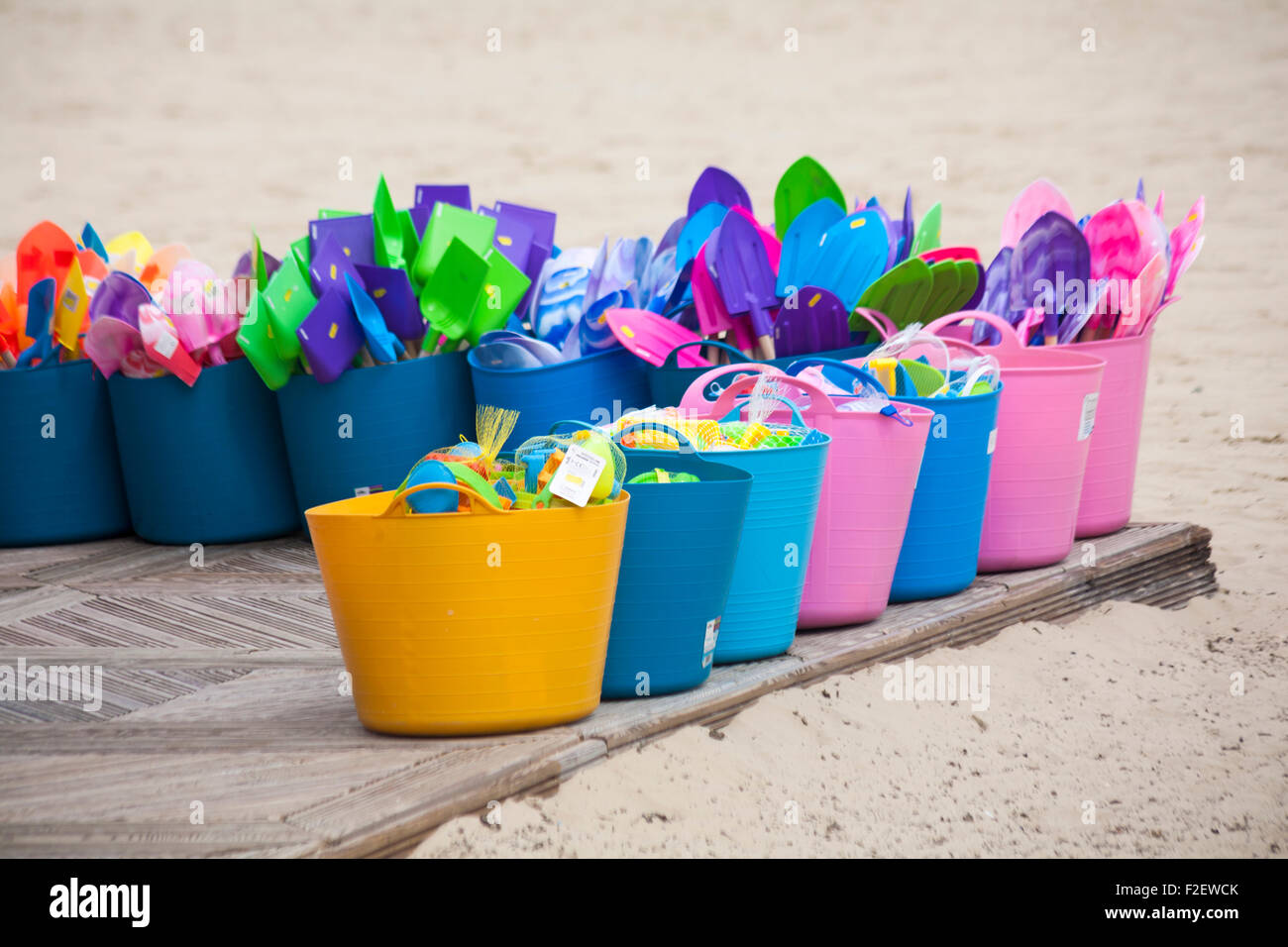 rhino flexi tubs containing items for sale at the seaside at ...