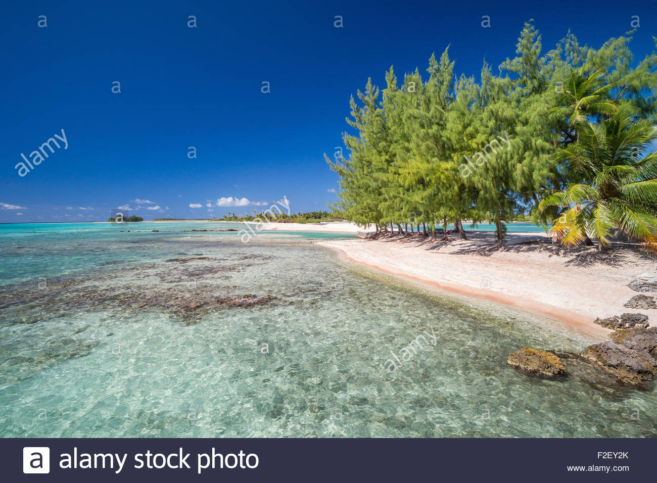 Tikehau (French Polynesia) Stock Photo