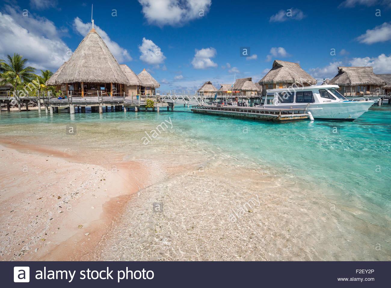 Tikehau Pearl Beach hotel (French Polynesia) Stock Photo