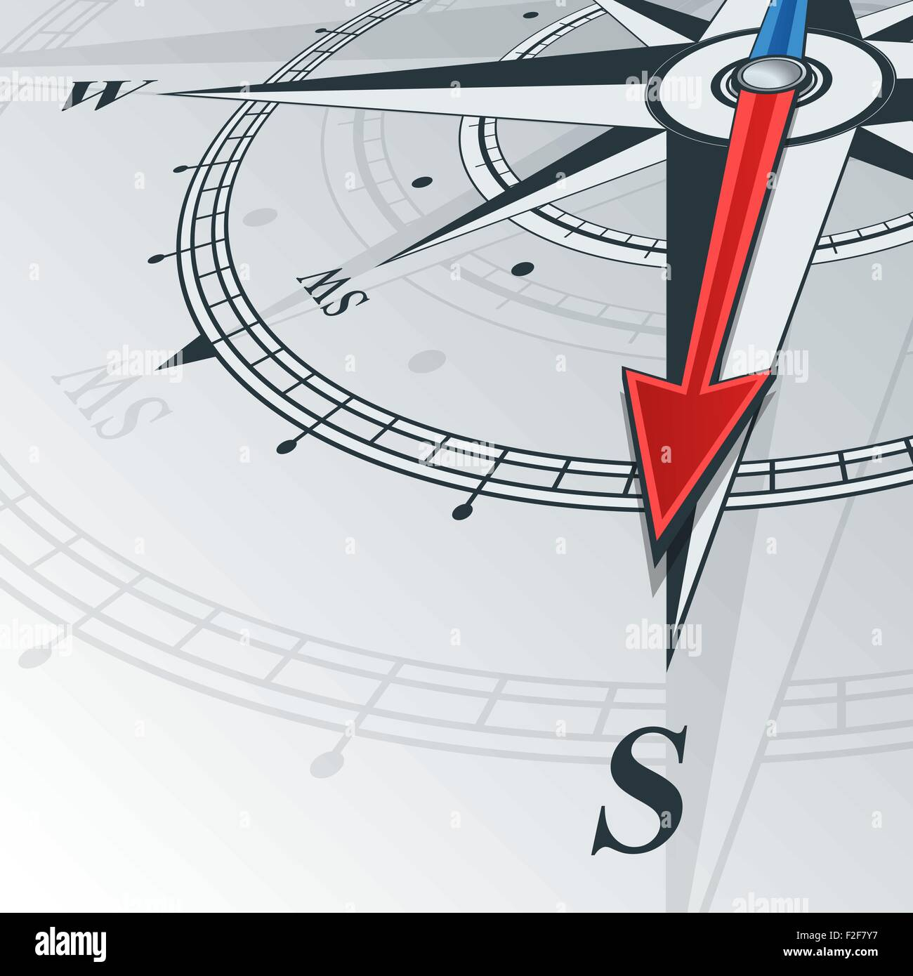 compass south - Stock Vector