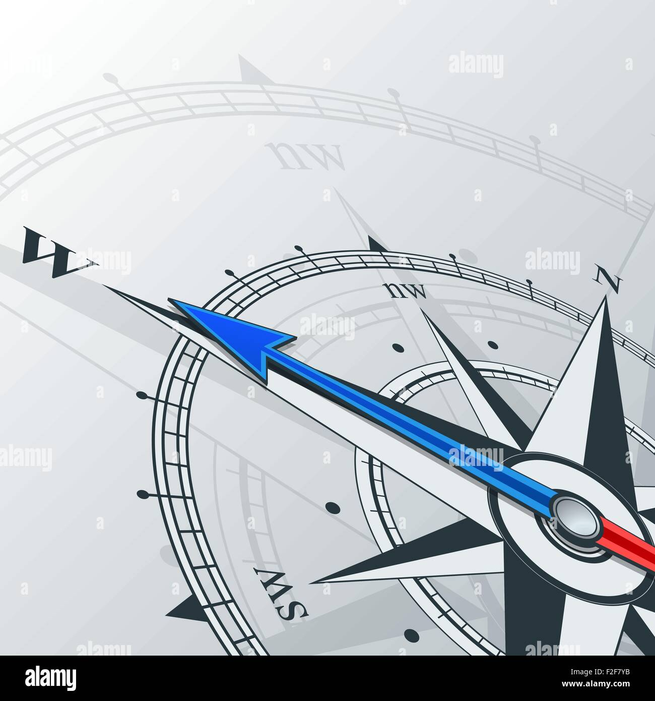 compass west - Stock Vector