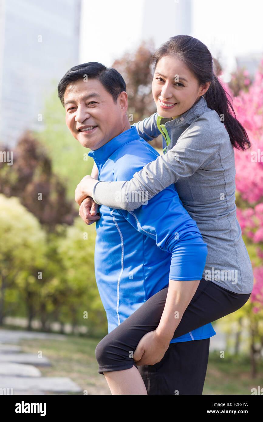 Happy mature couple - Stock Image