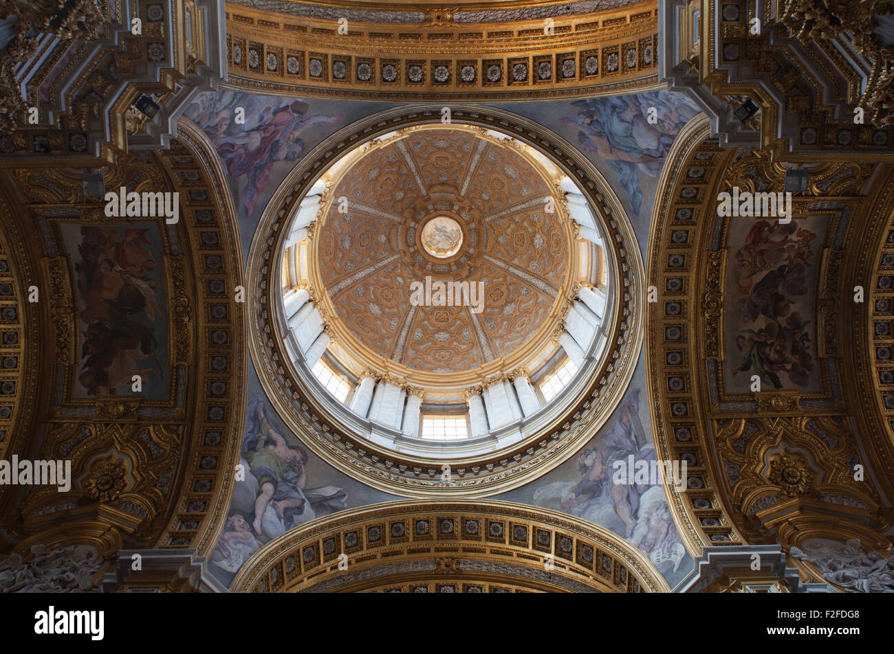The interior of the church of Saint Sylvester the First, Rome, Italy. - Stock Image