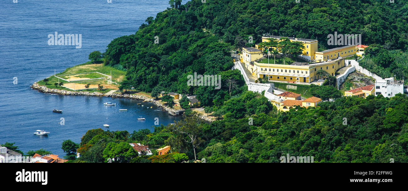 Forte de Sao Joao (Fort of St. John), is a 16th-century star fort in the present-day Urca neighborhood of Rio de - Stock Image