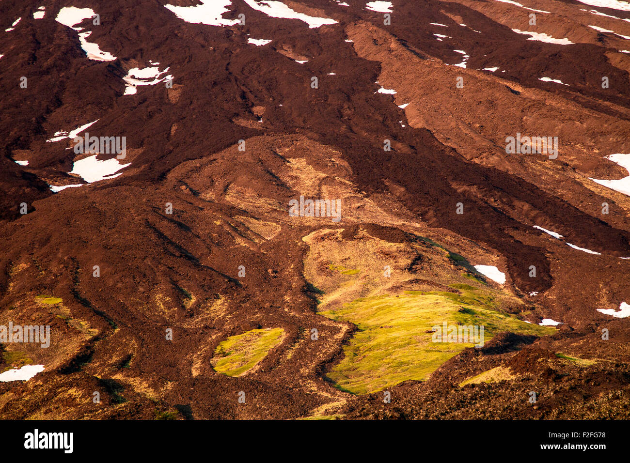 Lava flow on volcano Etna - Stock Image