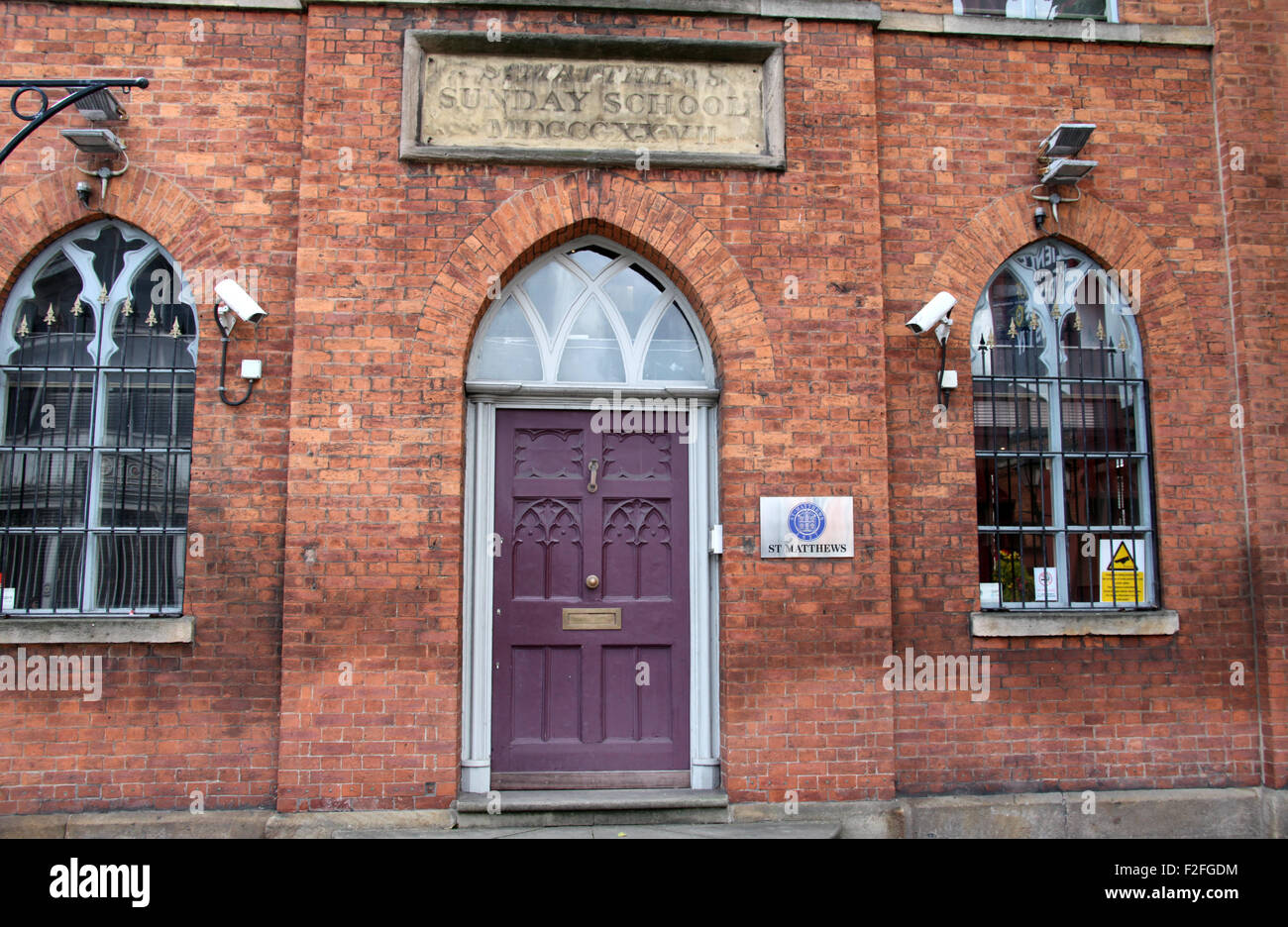 Former St Matthews Church Sunday School building in Castlefield  which is now Gunn House and offices - Stock Image