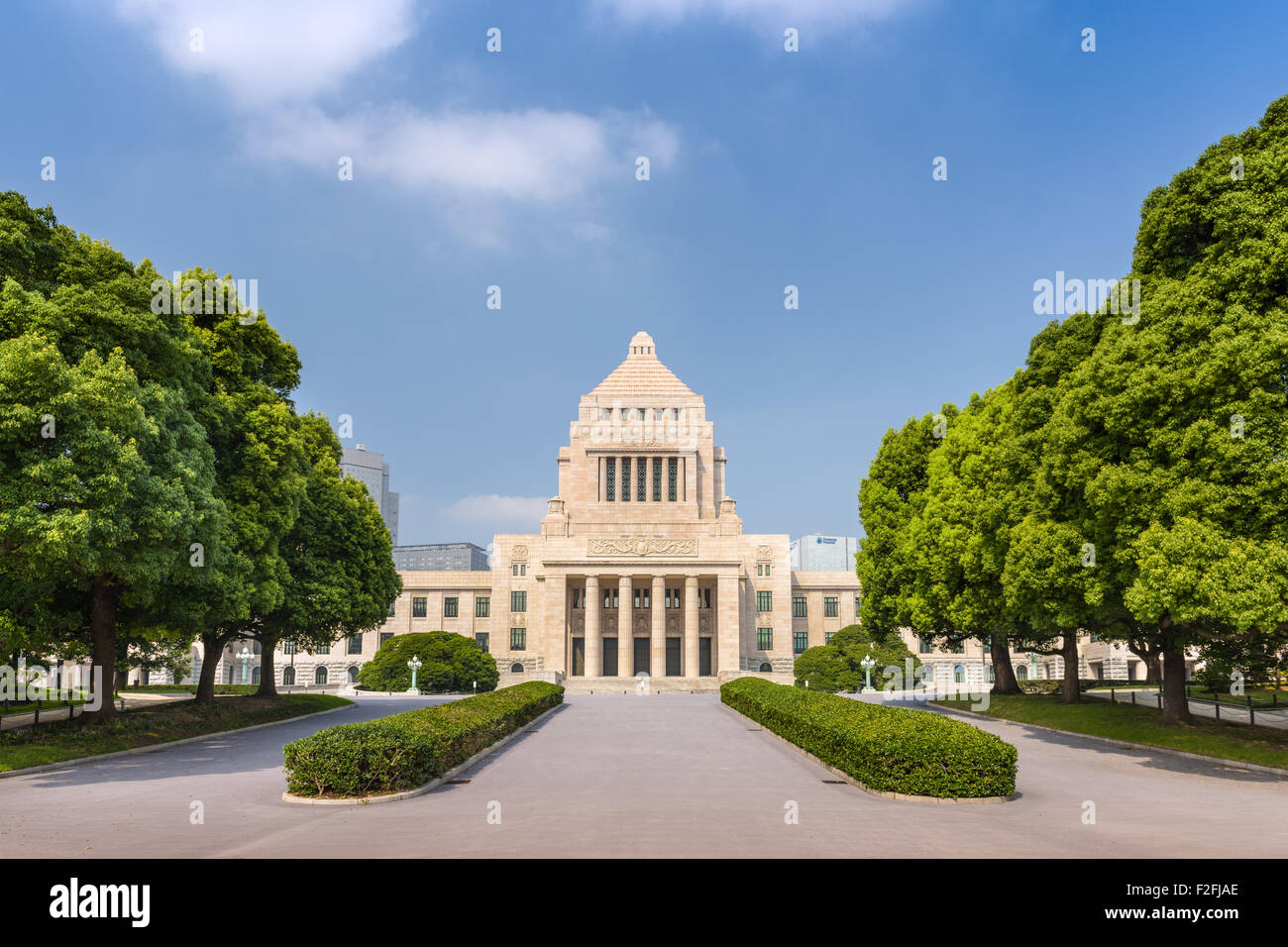Tokyo, Japan at the Kokkaigijido Parliament building Stock Photo