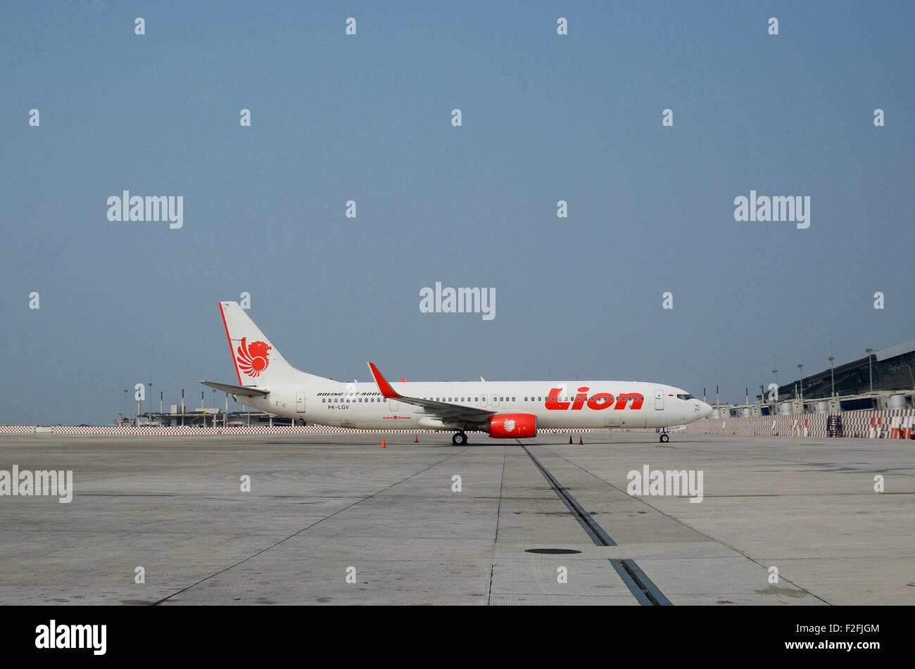 indonesia Airlines, Lion Air twin jet Boeing 737-900 ER - Stock Image