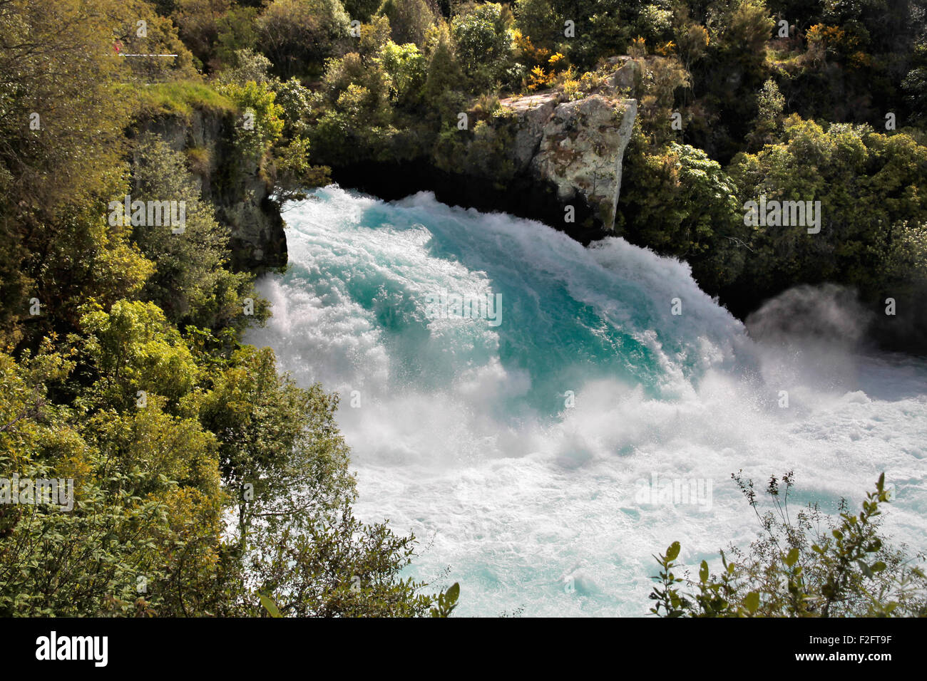 Huka Falls near Taupo, North Island, New Zealand - Stock Image