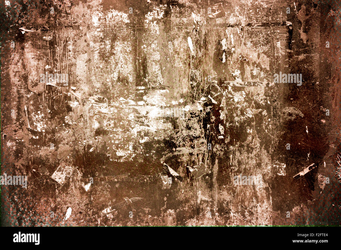 Abstract dirty stained grungy textured aged backdrop - Stock Image