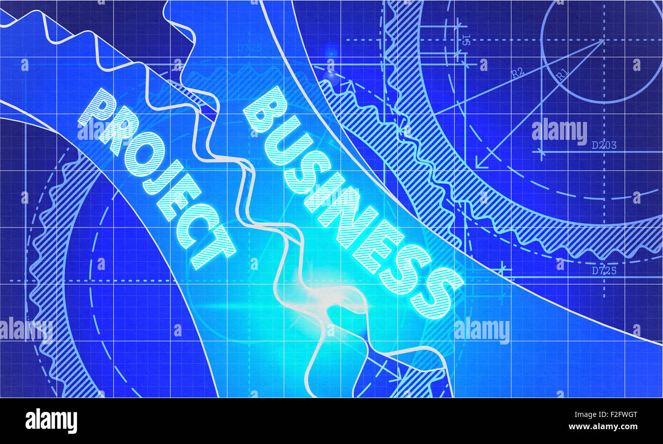 Business project concept blueprint background with gears business project concept blueprint background with gears industrial design 3d illustration lens flare malvernweather Image collections