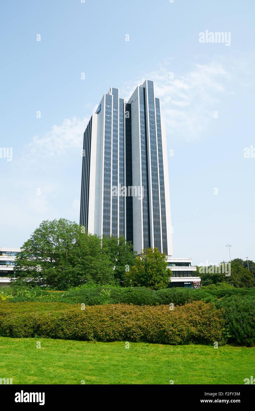 HAMBURG, GERMANY - AUGUST 14, 2015: Radisson Blu Hotel in Hamburg, Radisson Blu features 380 unique hotels, open - Stock Image