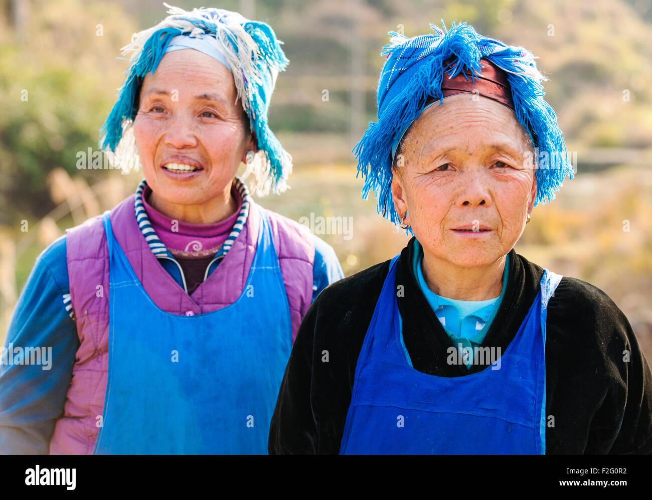 Miao women, Guizhou, China Stock Photo