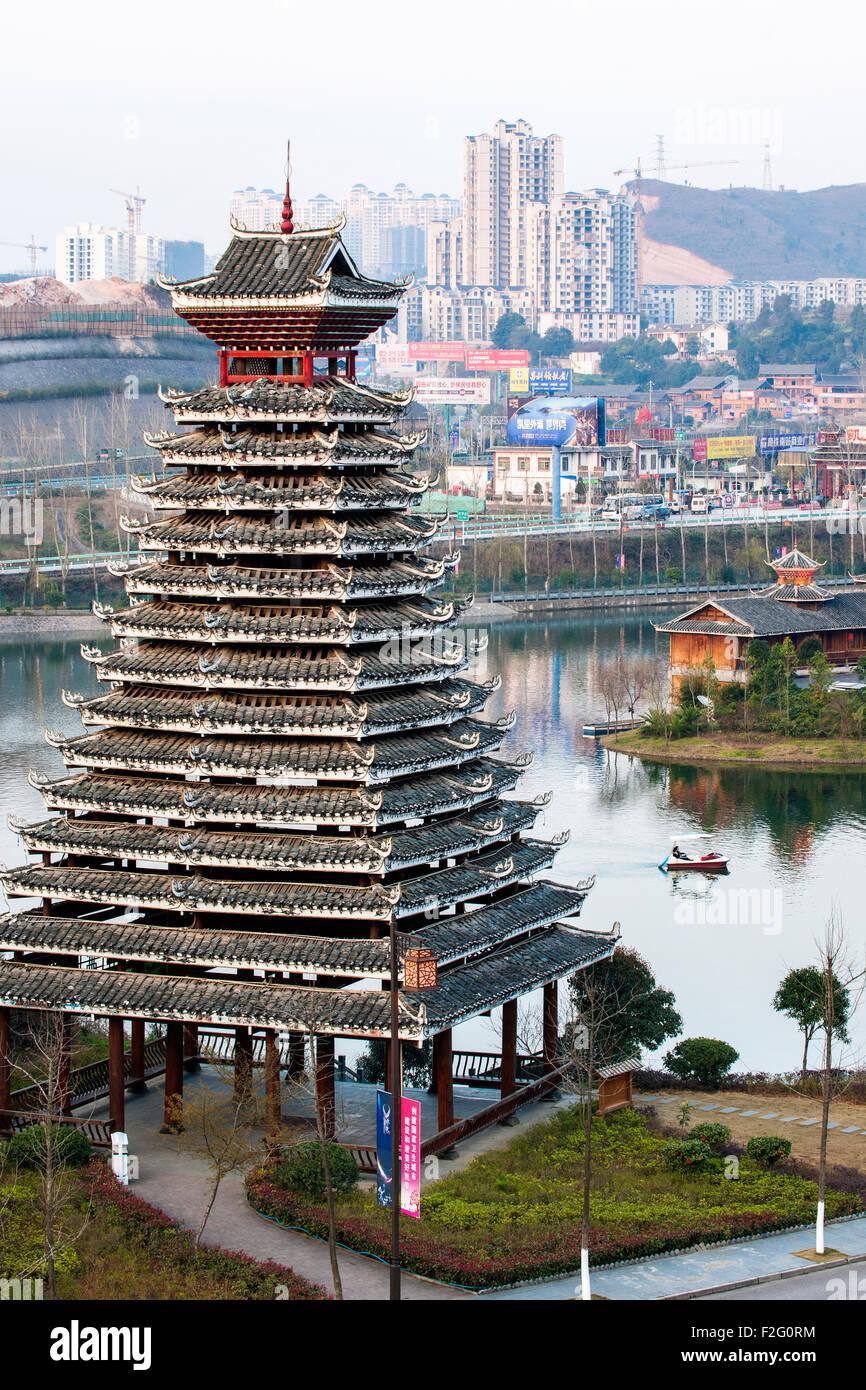 City of Kaili, Guizhou, China Stock Photo