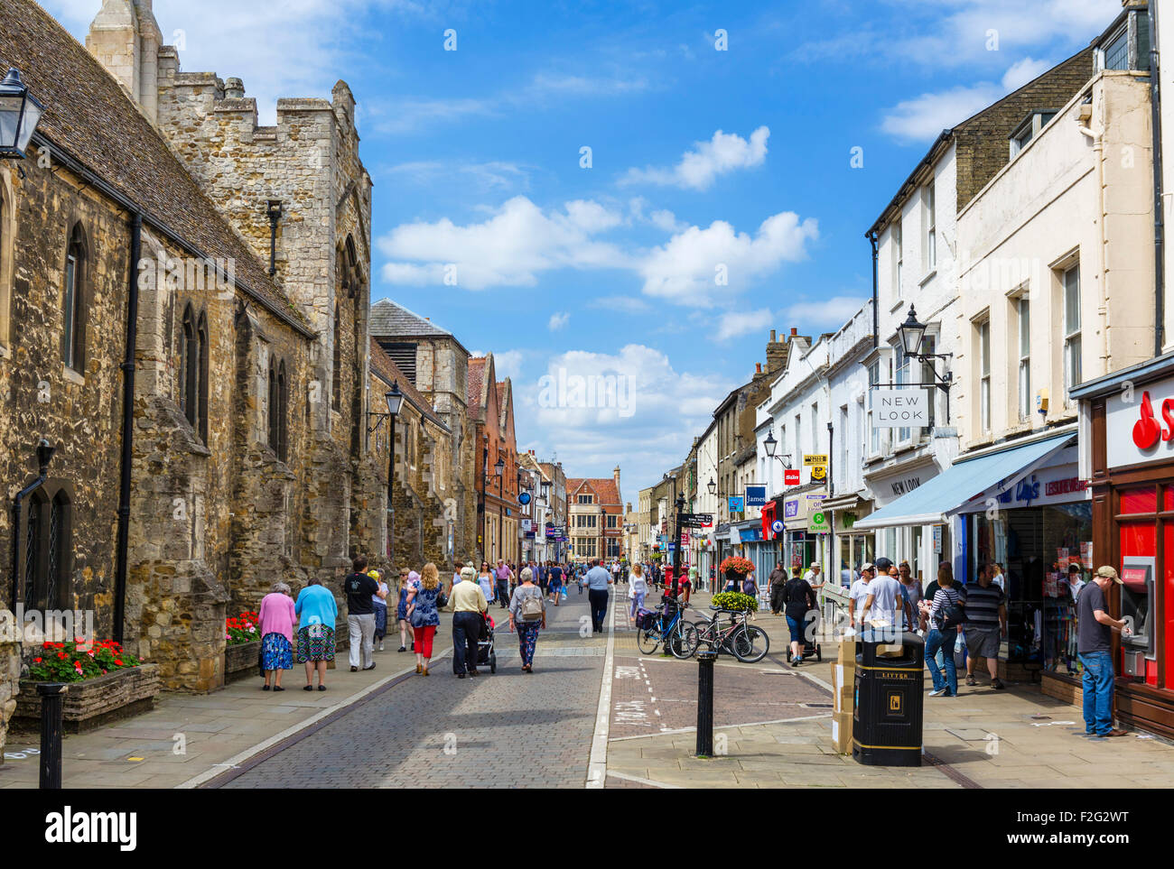 The High Street, Ely, Cambridgeshire, England, UK - Stock Image