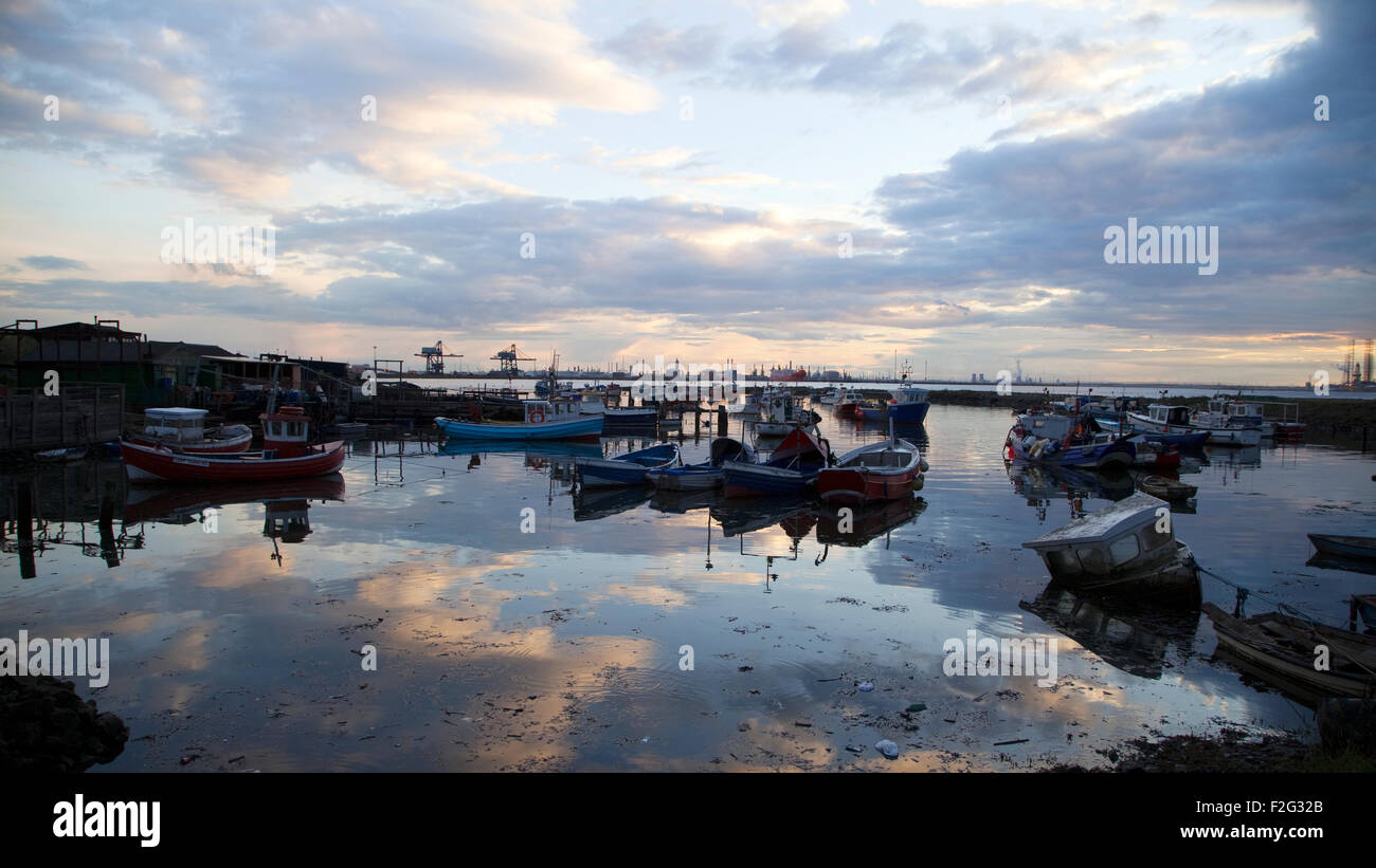 Evening at Paddy's Hole on Teesside, England - Stock Image