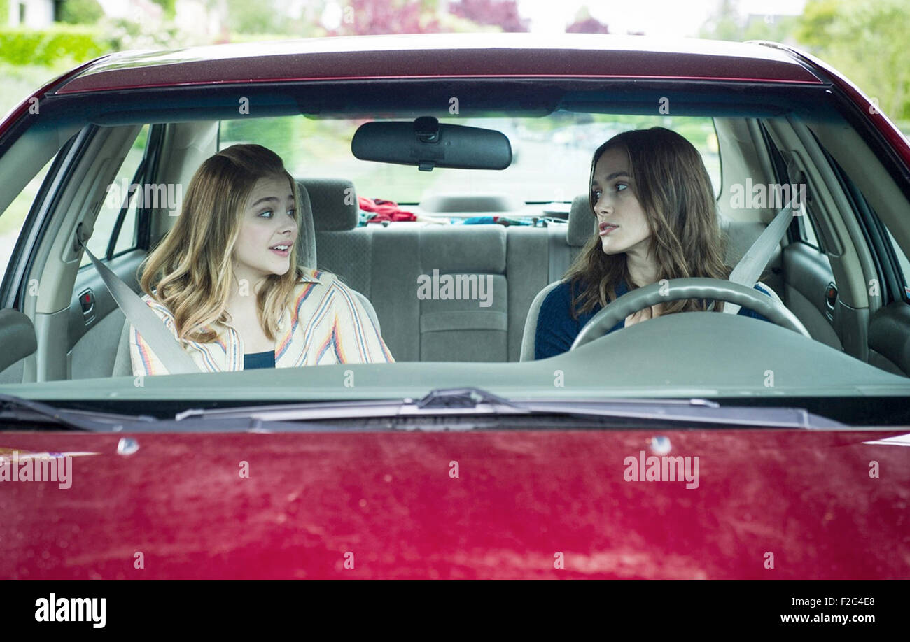 LAGGIES    2014 A24 film with Keira Knightley at right and Chloe Moretz - Stock Image