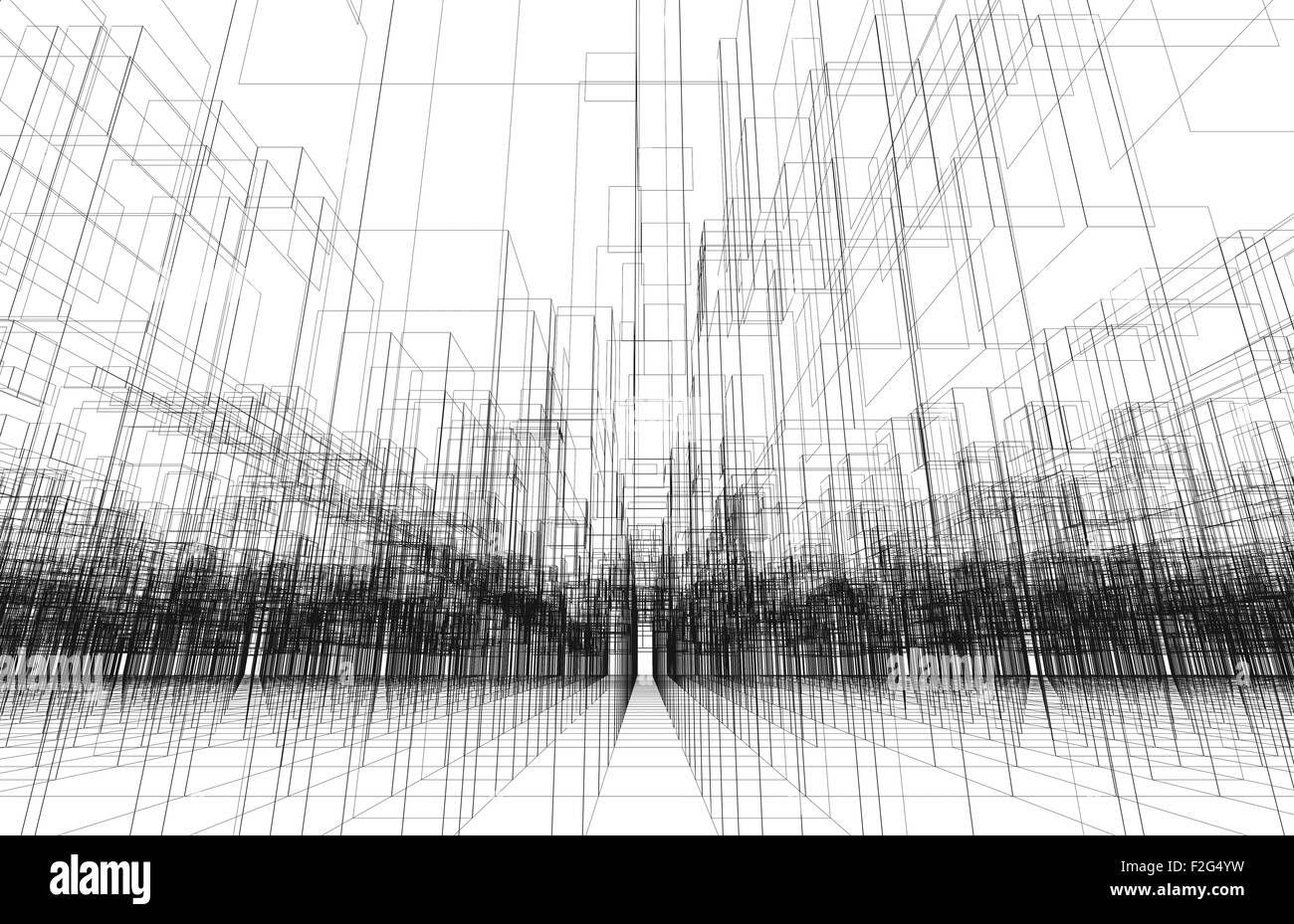 Digital background texture with 3d wire frame structure, perspective ...
