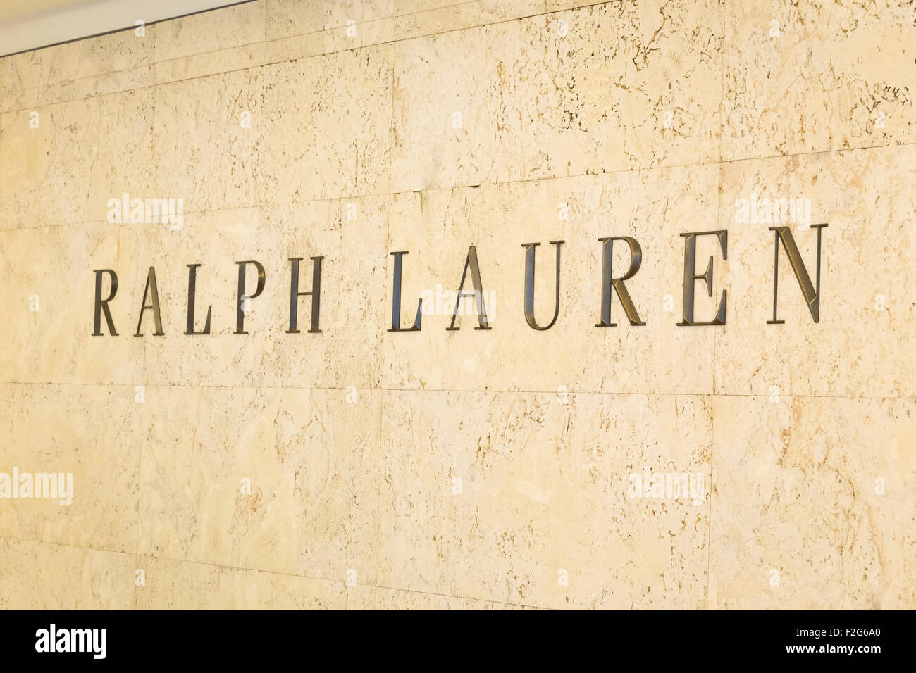 Ralph Lauren sign - Stock Image