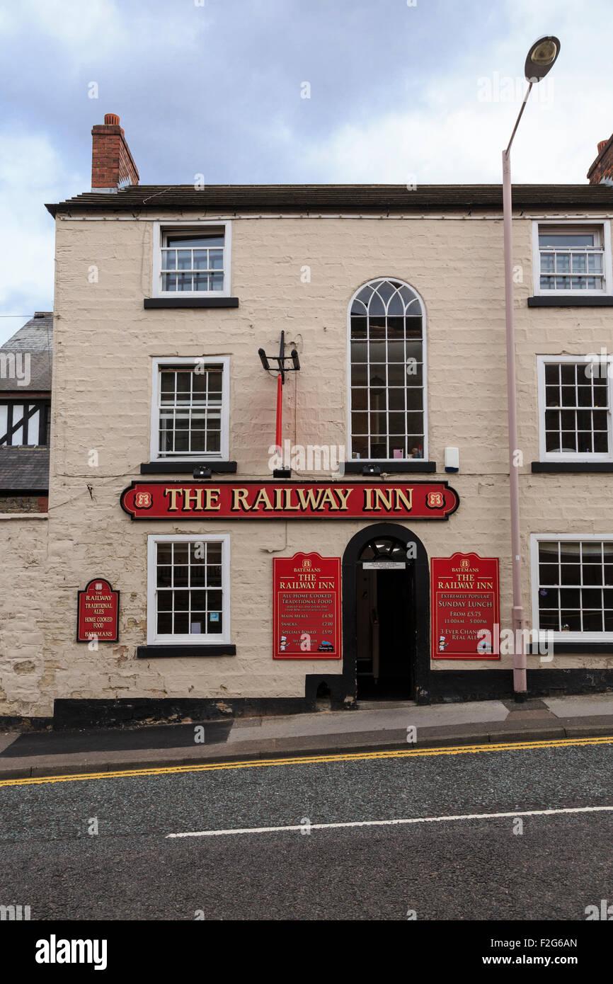 The Railway Inn, Mansfield, Nottinghamshire - Stock Image