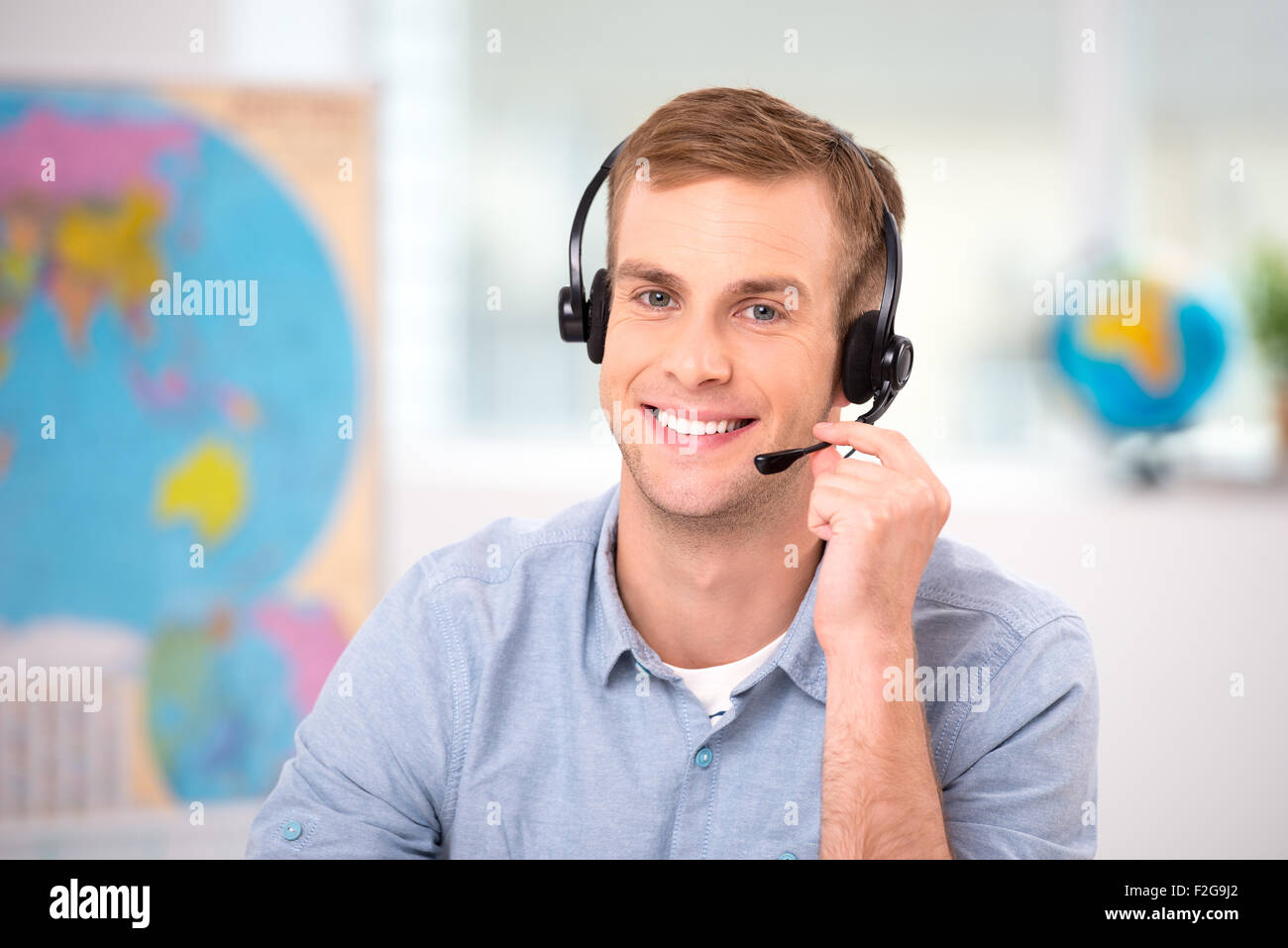 Creative concept for travel agency office - Stock Image