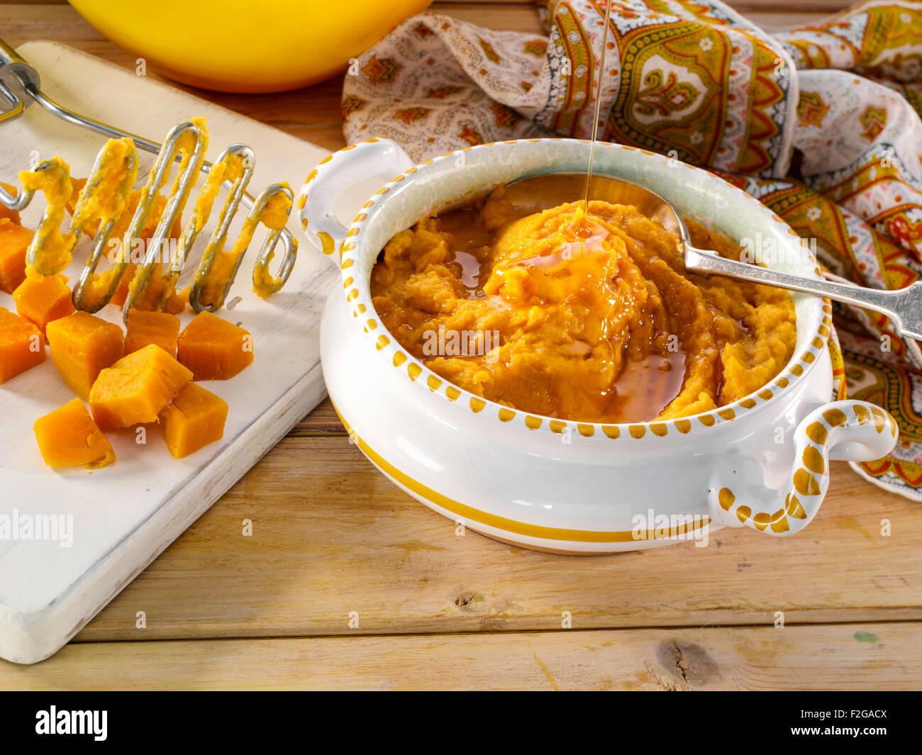 Mashed sweet potatoes Stock Photo