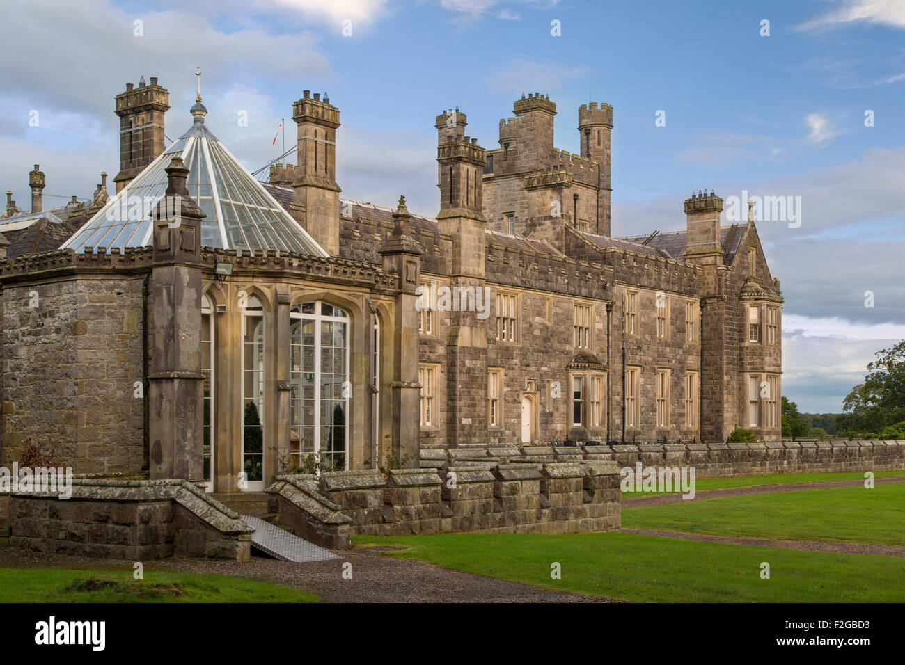 Crom Castle - Ancestral home to Lord Erne and the Crichton family, County Fermanagh, Northern Ireland, UK - Stock Image