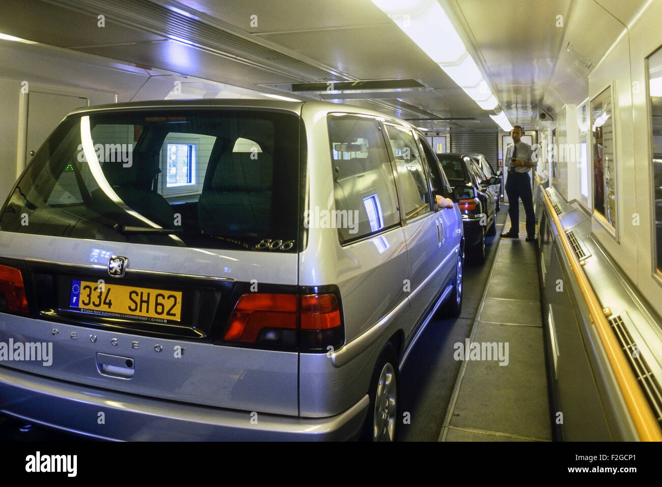 le shuttle eurotunnel france stock photo 87642409 alamy. Black Bedroom Furniture Sets. Home Design Ideas